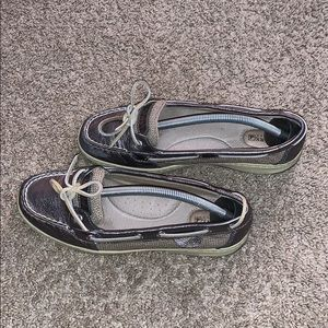 Sperry 9102385 Silver Boat Shoe Size 8M Loafers